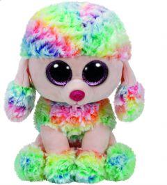 Jucarie plus Ty Rainbow Pudel 24 cm