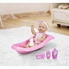 Papusa bebe cu accesorii baie, Aimantine