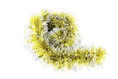 Beteala lucioasa bicolora, 10 cm x 2 m, PVC, Auriu/Alb