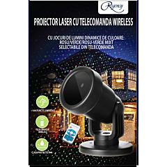 Proiector laser cu telecomanda wireless, jocuri de lumini Rosu/Verde/Rosu-Verde mixt