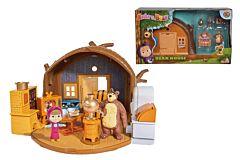 Set de joaca Masha si Ursul Simba, casa ursului inclusa, plastic, Multicolor