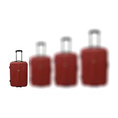 Troler ABS 51 cm, 2 roti, rosu, Carrefour
