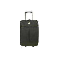 Troler Ts Soft 52 cm, 2 roti, negru, Carrefour