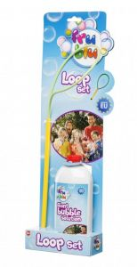 Set bucla pentru baloane de sapun cu solutie 0.5 L Fru Blu