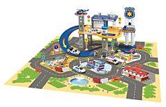 Set de joaca statie de politie, 60 accesorii, plastic, Multicolor