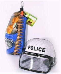 Set casca cu accesorii politie