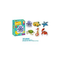 Joc puzzle cu animale marine
