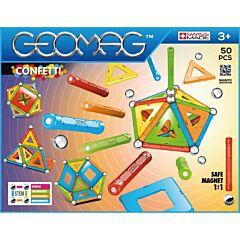 Set de constructie magnetic Geomag Confetti, 50 piese