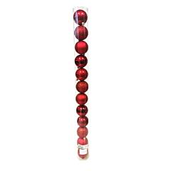 Tub 12 globuri de 60 mm, rosu