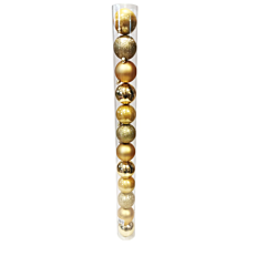 Tub 12 globuri de 60 mm, auriu