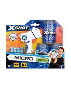 Pistol X-shot cu 8 gloante si 3 tinte