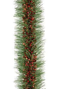 Ghirlanda pentru brad, diametru 10 cm, 2 m, PVC, Rosu/Verde