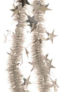 Ghirlanda cu stelute, diametru 3 cm, 2 m, PVC, Argintiu