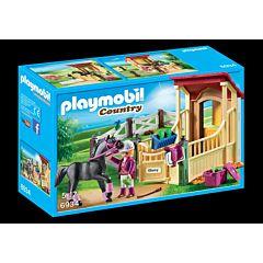 Jucarie Playmobil Horse Farm - Grajd si cal arab