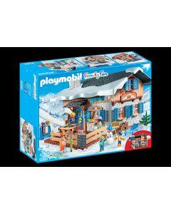 Jucarie Playmobil Family Fun - Cabana schiorilor