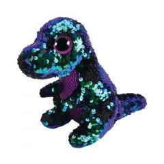 Plus Dinozaur verde-mov, 15 cm