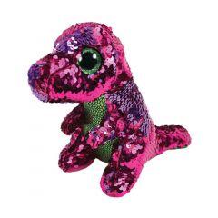 Plus Dinozaur roz-verde, 15 cm