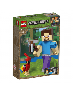 LEGO Minecraft - Steve BigFig cu papagal 21148