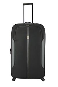 Troler Soft Case 78.5 cm, 4 roti, negru, Carrefour