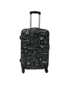 Troler Abs City 4 roti, 62 cm, gri, Carrefour