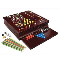 Set 10 jocuri clasice din lemn, Cardinal Games
