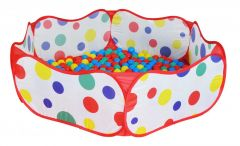 Piscina cu 50 de bile, plastic, Multicolor