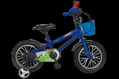 "Bicicleta baieti VELORS V1201A, roata 12"", C-Brake, cosulet, roti ajutatoare, 2-4 ani, albastru"