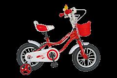 "Bicicleta fete VELORS V1202A, roata 12"", C-Brake, cosulet, roti ajutatoare, 2-4 ani, rosu"