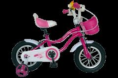 Bicicleta copii fete V1202A fucsia, Velors