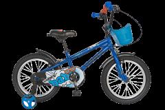 "Bicicleta baieti VELORS V1601A, roata 16"", C-Brake, cosulet, roti ajutatoare, 4-6 ani, albastru"