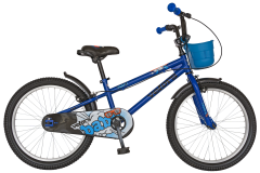 "Bicicleta baieti VELORS V2001A, roata 20"", C-Brake, cosulet, 7-10 ani, albastru"