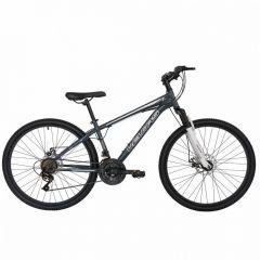 "Bicicleta de munte VELORS V2610A, roata 26"", frana disc, 21 viteze, gri/argintiu"