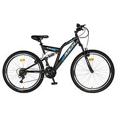 """Bicicleta de munte 24"""" R2449A Full Suspension Rich, Albastru/Negru"""
