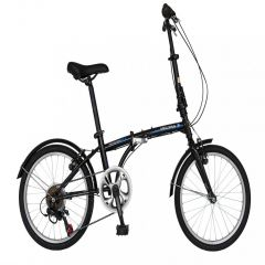 "Bicicleta pliabila 20"" VELORS Advantage V2054B, cadru otel, transmisie SHIMANO 6 viteze, culoare negru/albastru"