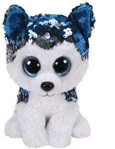 Jucarie plus Ty Husky albastru 15 cm