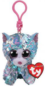 Ty clip Flip Blue Cat 8,5 cm