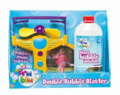 Set baloane de sapun cu lansator Double Bubble si solutie 0.5 L