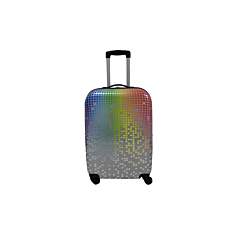 Troler cabina Degrade geometric cu 4 roti, multicolor