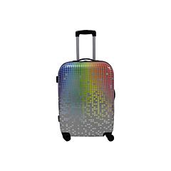 Troler mediu Degrade geometric cu 4 roti, multicolor