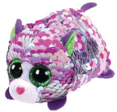 Jucarie plus Teeny Tys Flip Lilac Pisica 10 cm