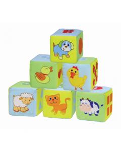 Set 6 cuburi moi pentru bebelusi