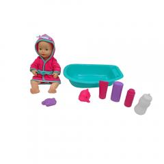Set papusa bebe 30 cm cu accesorii baie