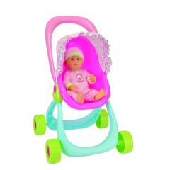 Set papusa bebe si carucior 40 cm