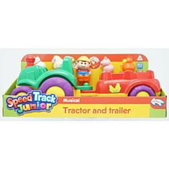 Tractoras muzical cu trailer