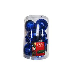 Set 12 globuri, albastru