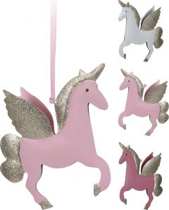 Ornament unicorn din metal