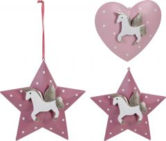Ornament unicorn din metal, 3D