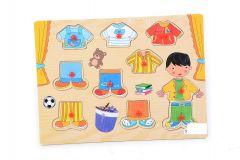 Puzzle lemn haine, Piccolino