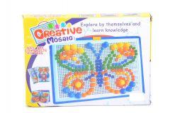 Puzzle cu pioneze fluture multicolor, Piccolino