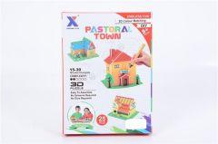 Joc puzzle 3d si colorat casa, Piccolino